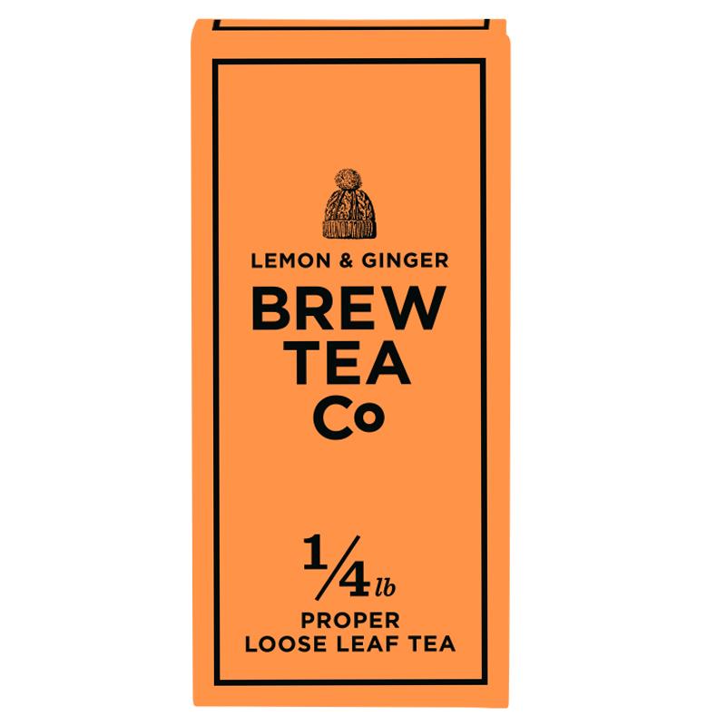 BREW TEA Co. ブリューティーカンパニー leaf tea 茶葉 113g 箱入り Lemon & Ginger レモンアンドジンジャー