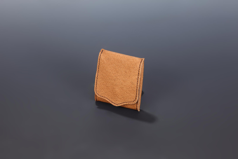 【国産イノシシ革】Designers Jewelry buff コラボコインケース(Brown)【NOTO Leather使用】