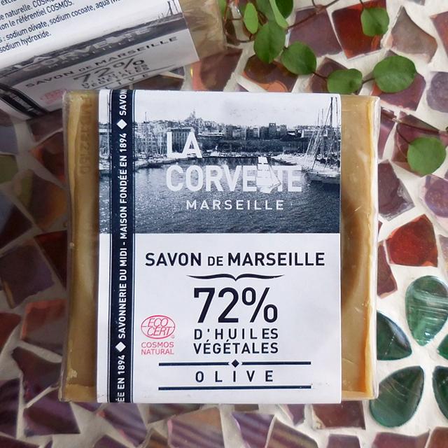 (251) LA CORVETTE サボンドマルセイユ オリーブ 200g マルセイユ石鹸 SAVONNERIE du MIDI バス雑貨
