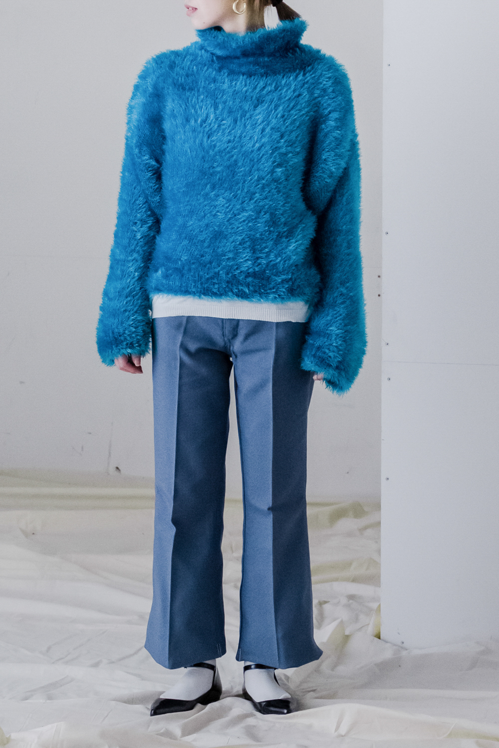 80's Turquoise Blue Mohair Knit