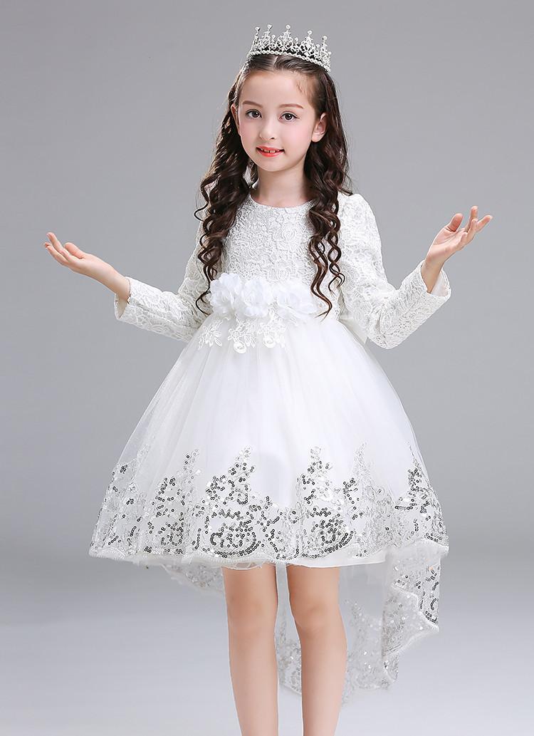 75f37c75510f2 (drschr-X0013) 女の子 衣装 ドレス ロングスカート 秋 韓国版 礼服 ピアノ 発表会 ドレス 子供 結婚式ドレス リングガール 子供の ドレス