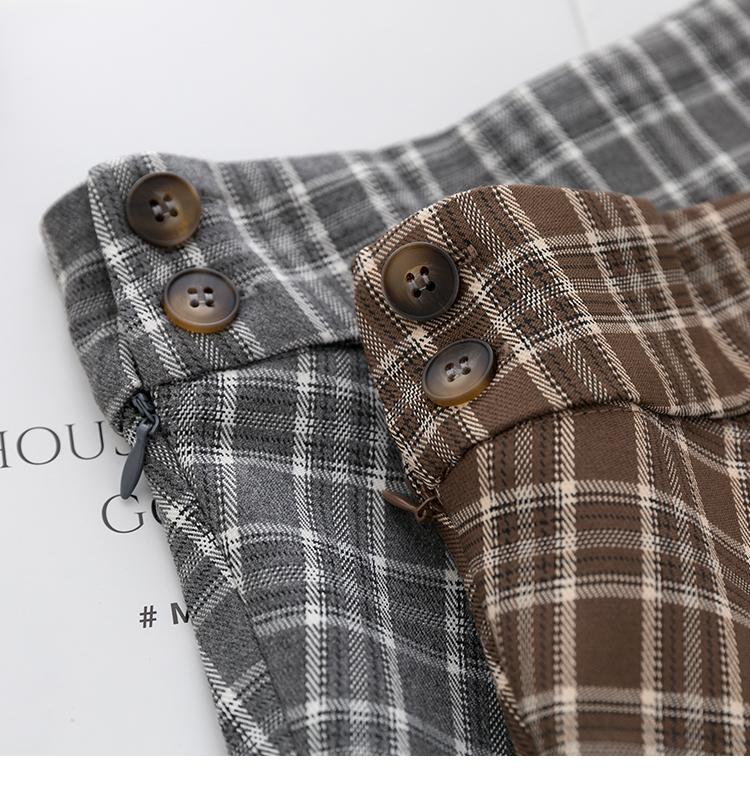 〈カフェシリーズ〉レトロチェックAラインスカート 【rétro check A-line skirt】