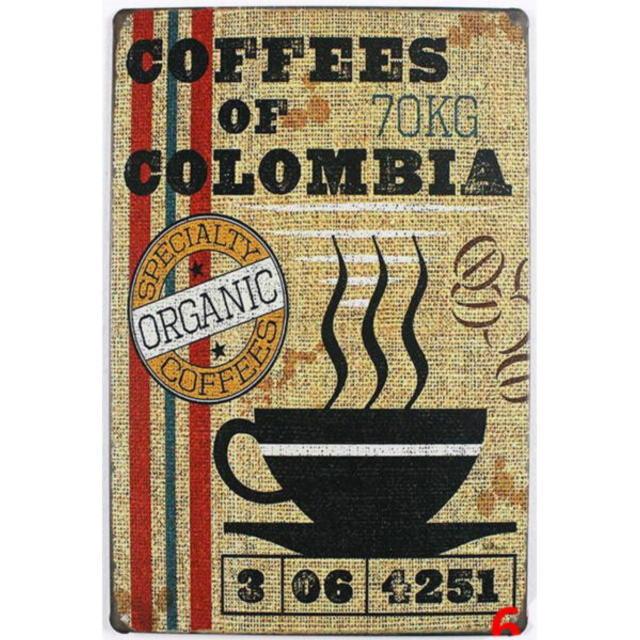 【ブリキ看板】コーヒー オブ コロンビア 小型版[C62121]