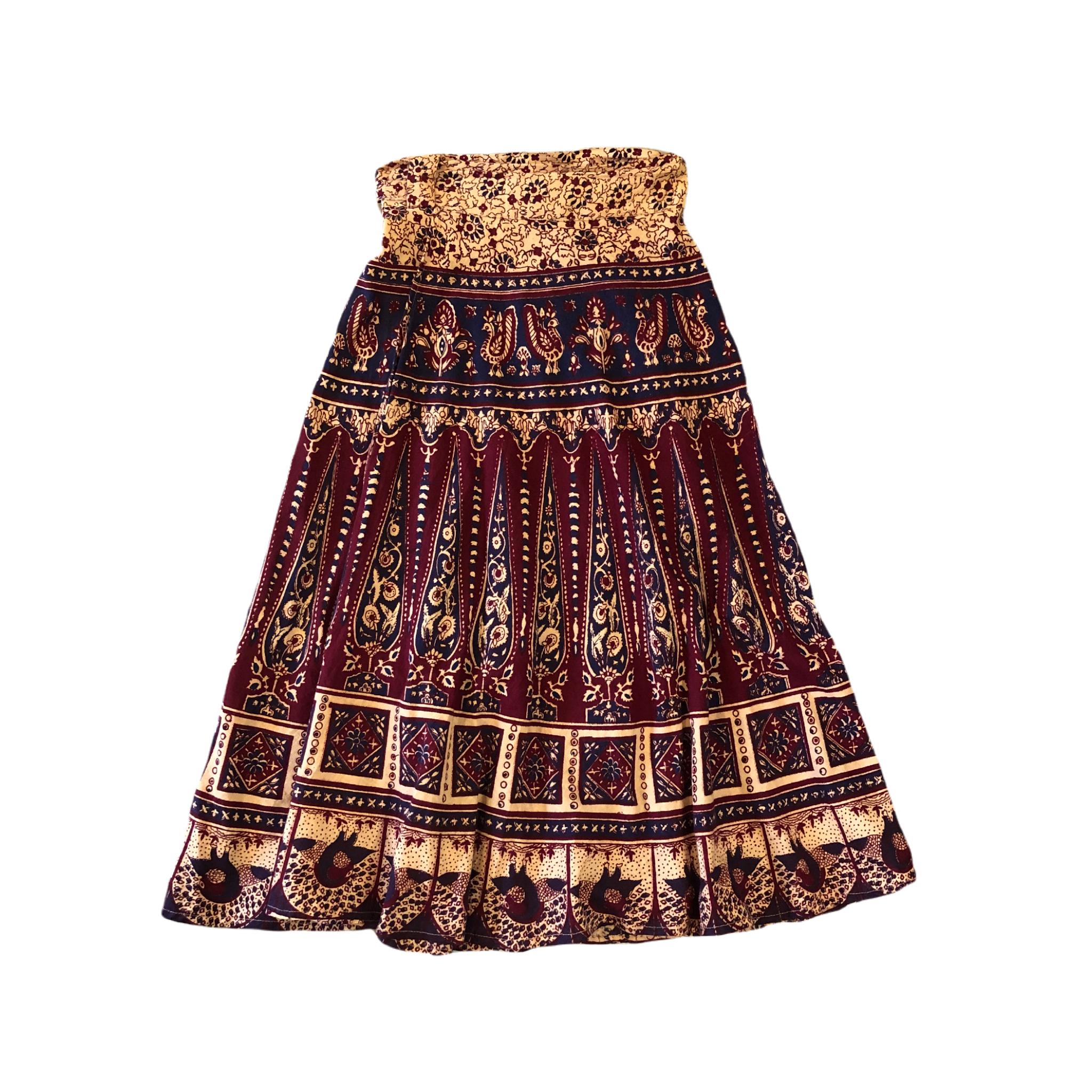 Ethnic Wrap Skirt ¥5,700+tax