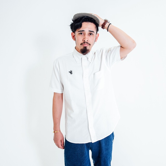 King Logo Oxford Short Sleeve Shirt / White - 画像1