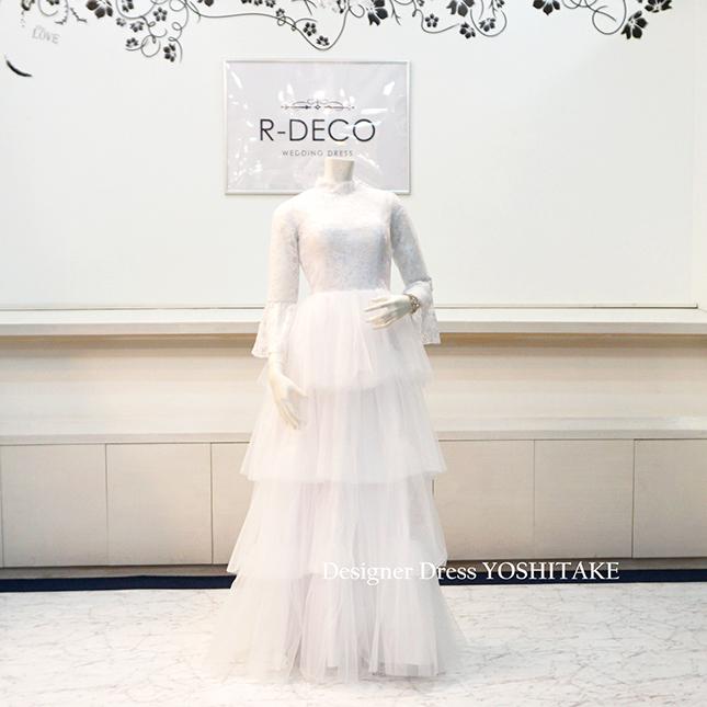 【オーダー制作】ウエディングドレス(パニエ無料 ) スレンダー白ドレス 披露宴/二次会/前撮り ※制作期間3週間から6週間