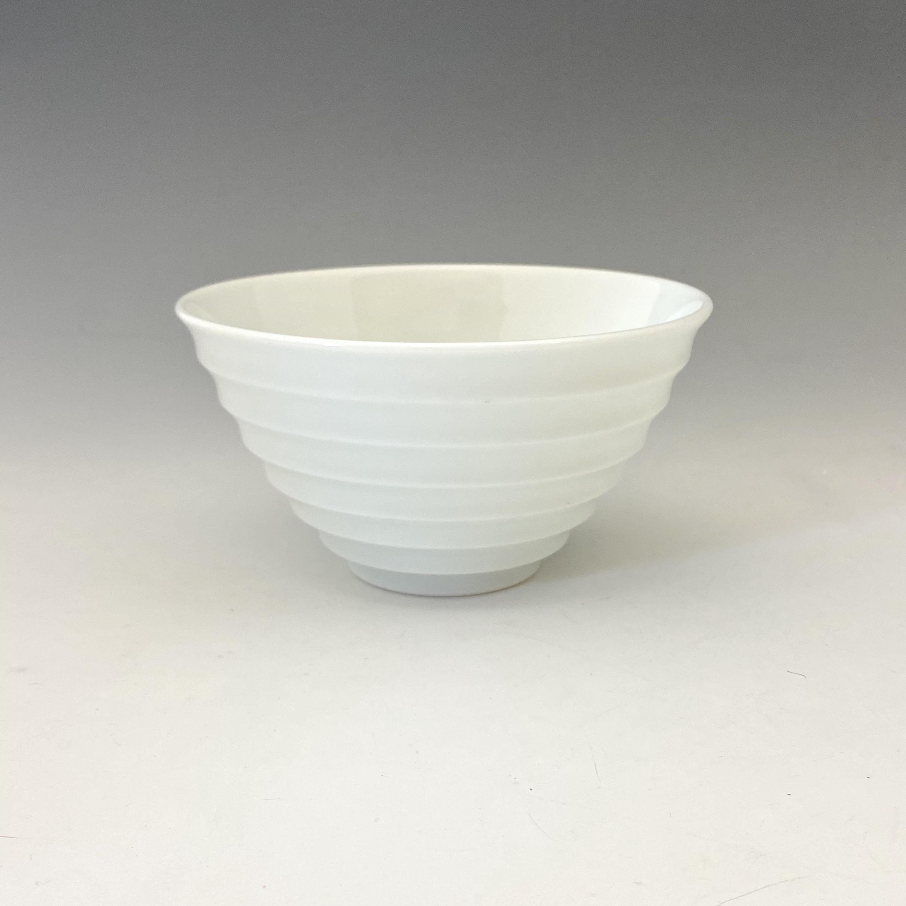 【中尾純】白磁線段碗(大)