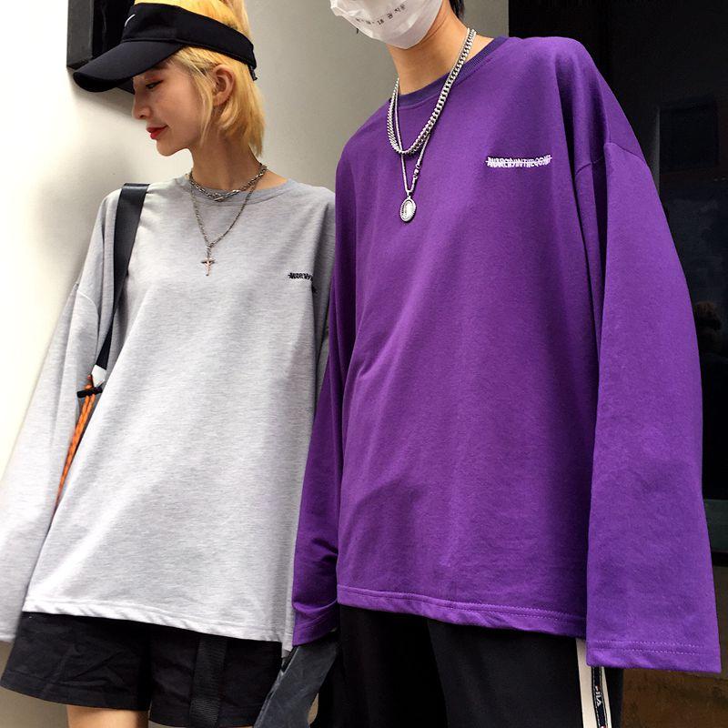 【tops】刺繍ラウンドネックプルオーバーTシャツ23029566