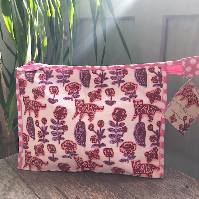 Nathalie Lete Pouch / cat&owl ナタリーレテ キャット&フクロウ ポーチ
