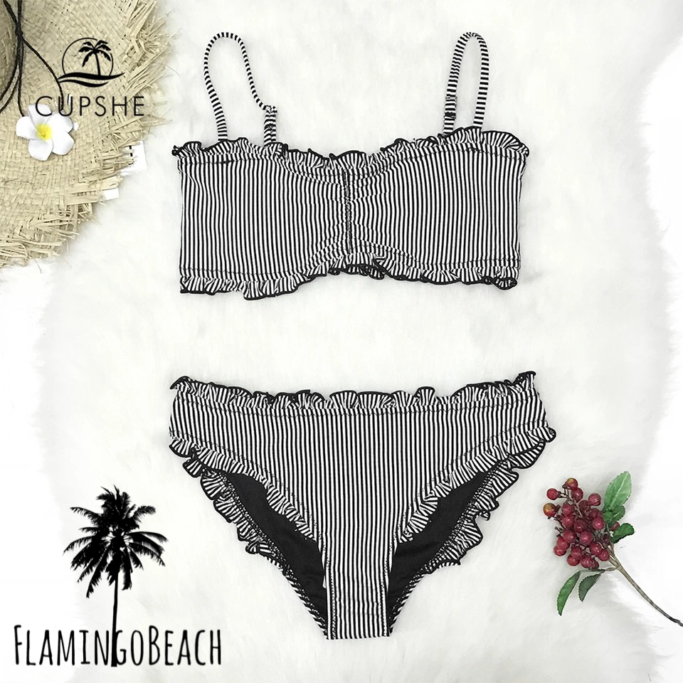 【FlamingoBeach】furil strip bikini ビキニ