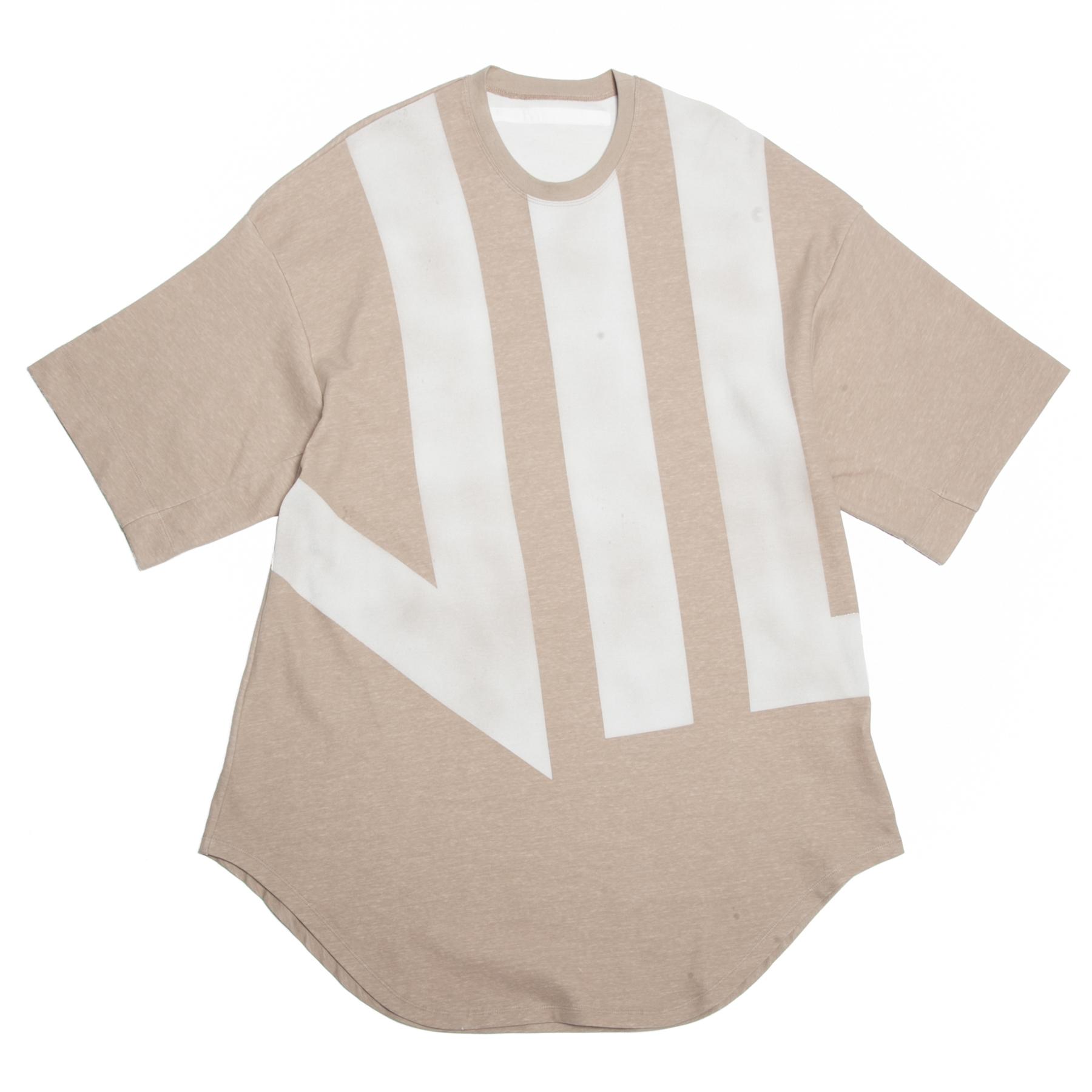640CPM4-BEIGE / 家紋ラウンドスウェットTシャツ