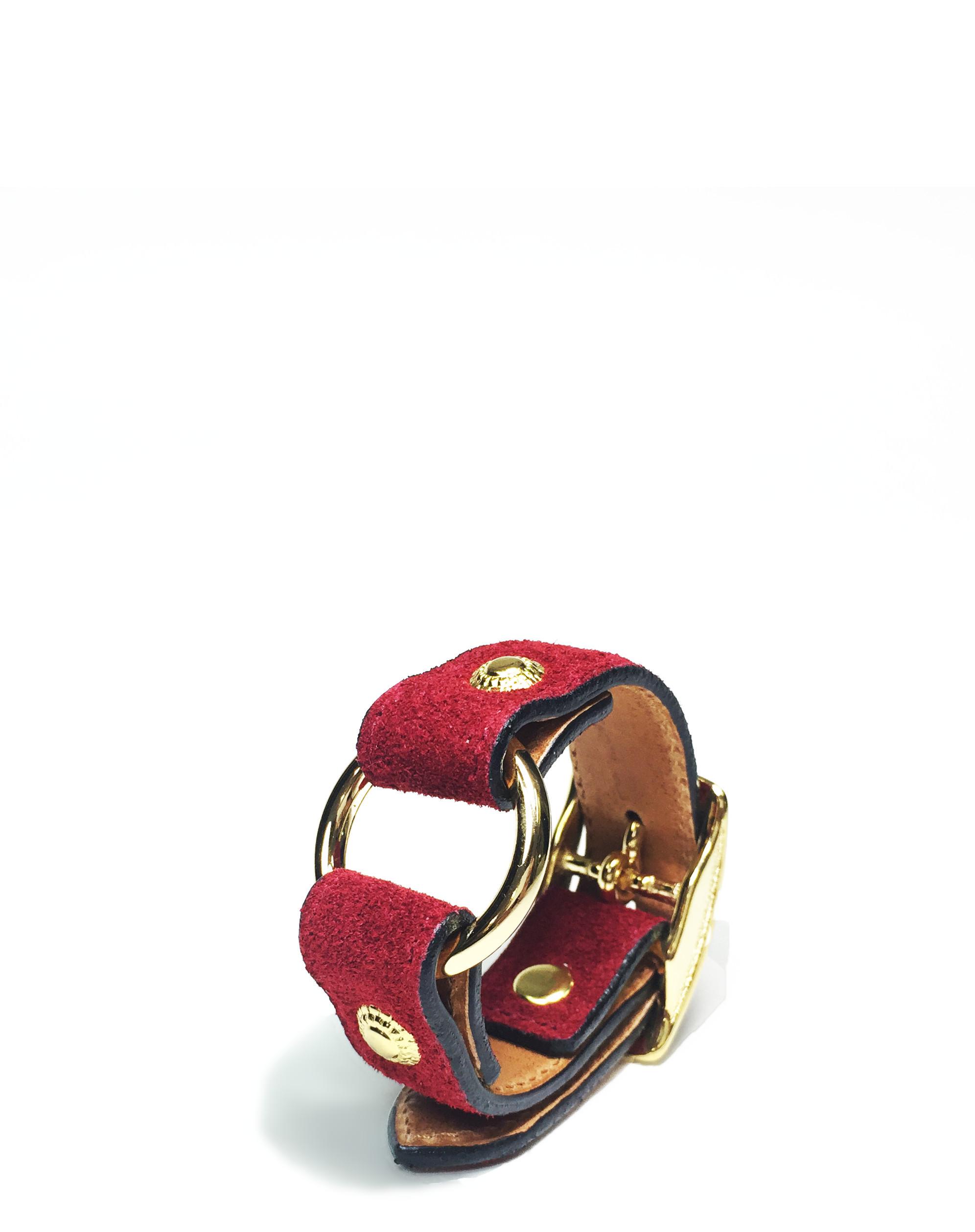 nahezugleich / Suede Ring bracelet - 画像4