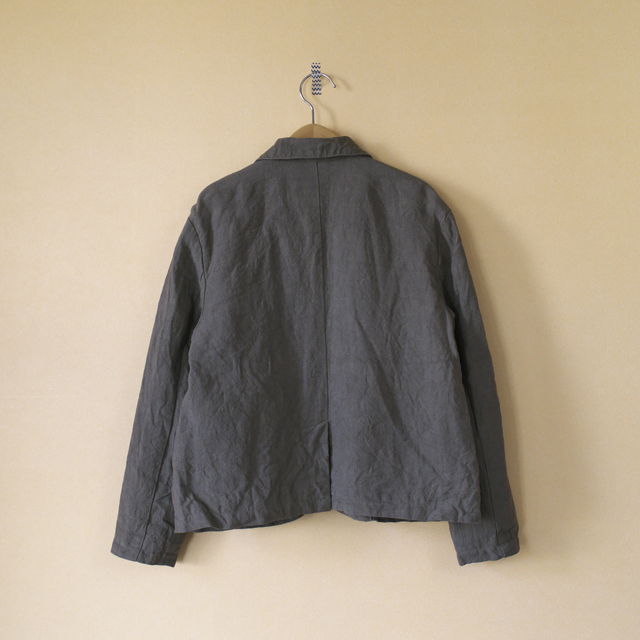 Gauze# ガーゼ ショールカラージャケット:カーキベージュ