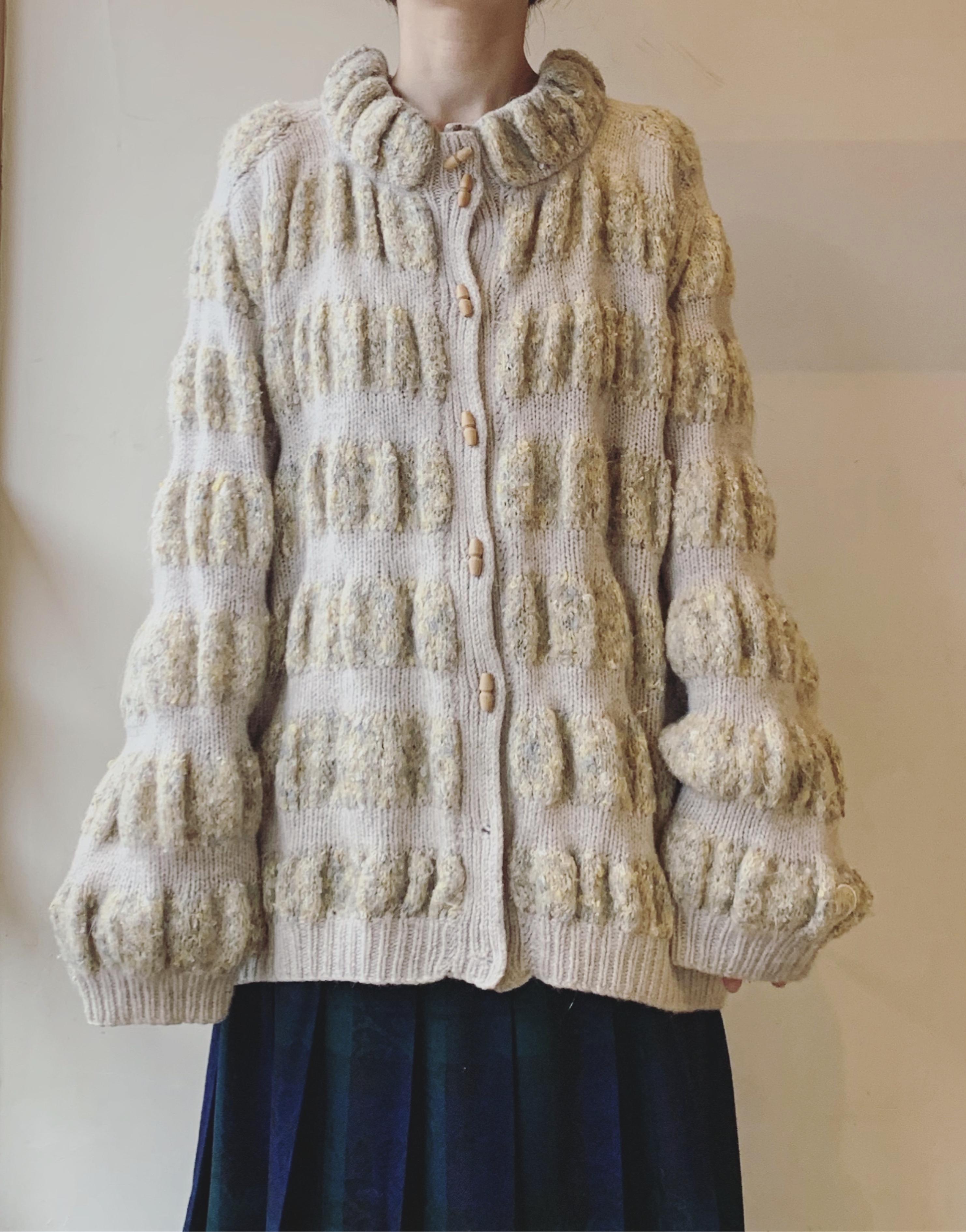 vintage design knit cardigan