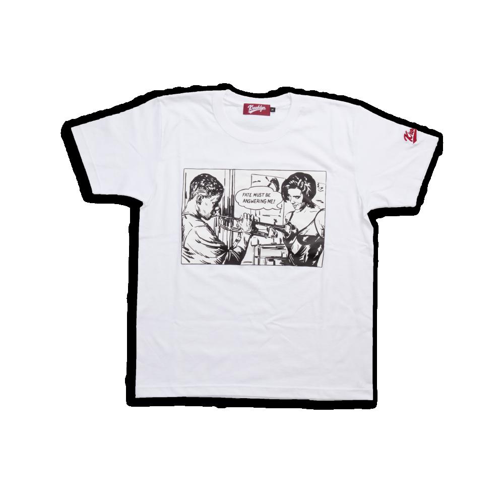 K'rooklyn T-Shirt × 上岡 拓也 Mo' Better Blues - White
