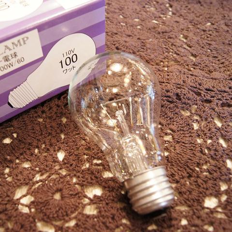 白熱電球 E26 100W 一般球クリア