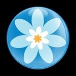 ゴーバッジ(ドーム)(CD0240 - FLOWER 05) - 画像1