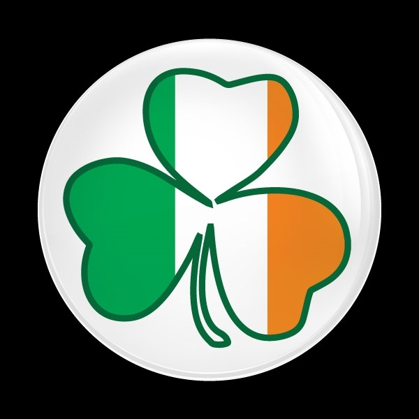 ゴーバッジ(ドーム)(CD0988 - Seasonal Irish Shamrock 1) - 画像1