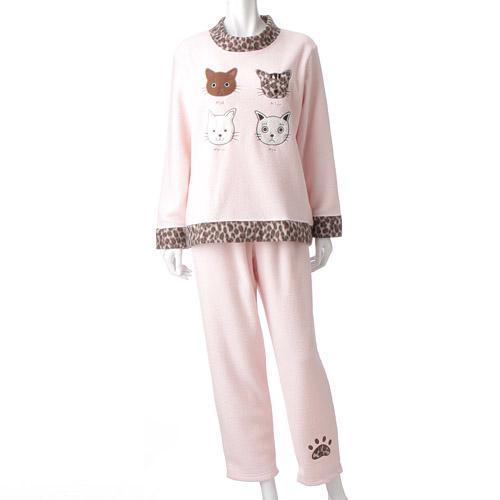【取り寄せ】ねこパジャマ かぶりタイプ ピンク