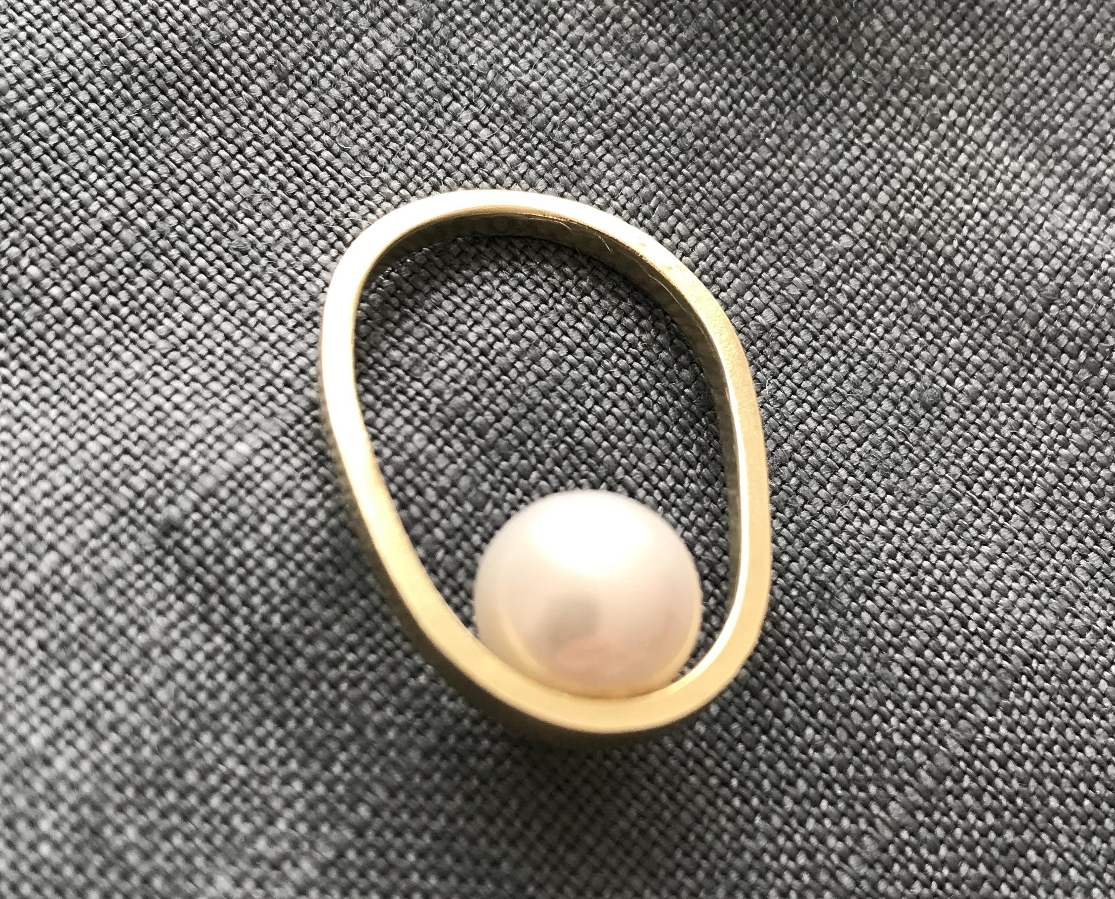 pearl ring (PeR-3) brass 14号