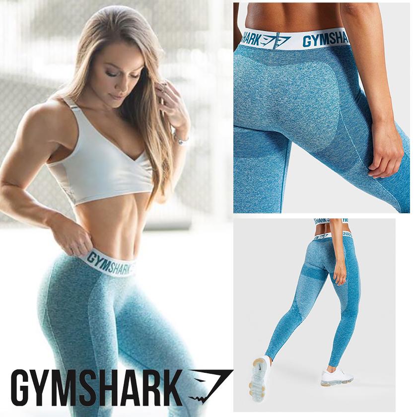 GYM SHARK カラーレギンス ICE BLUE