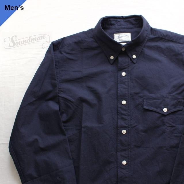 Soundman オックスフォードBDシャツ Boston 215M-965O ネイビー