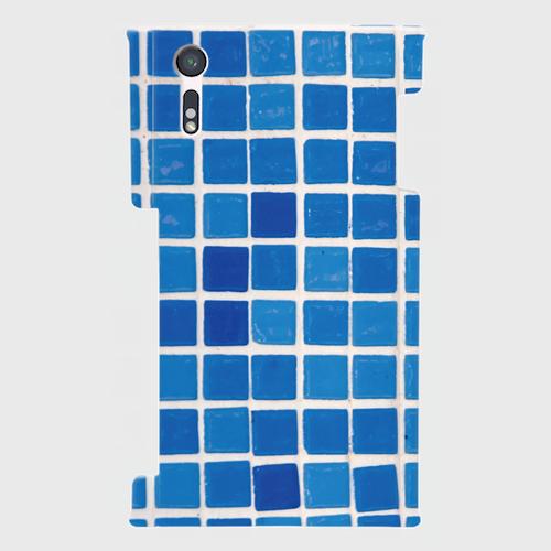 モザイクタイル(青)/ Androidスマホケース(ハードケース)
