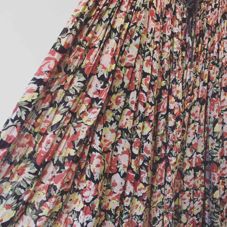 vintage flower indian cotton skirt