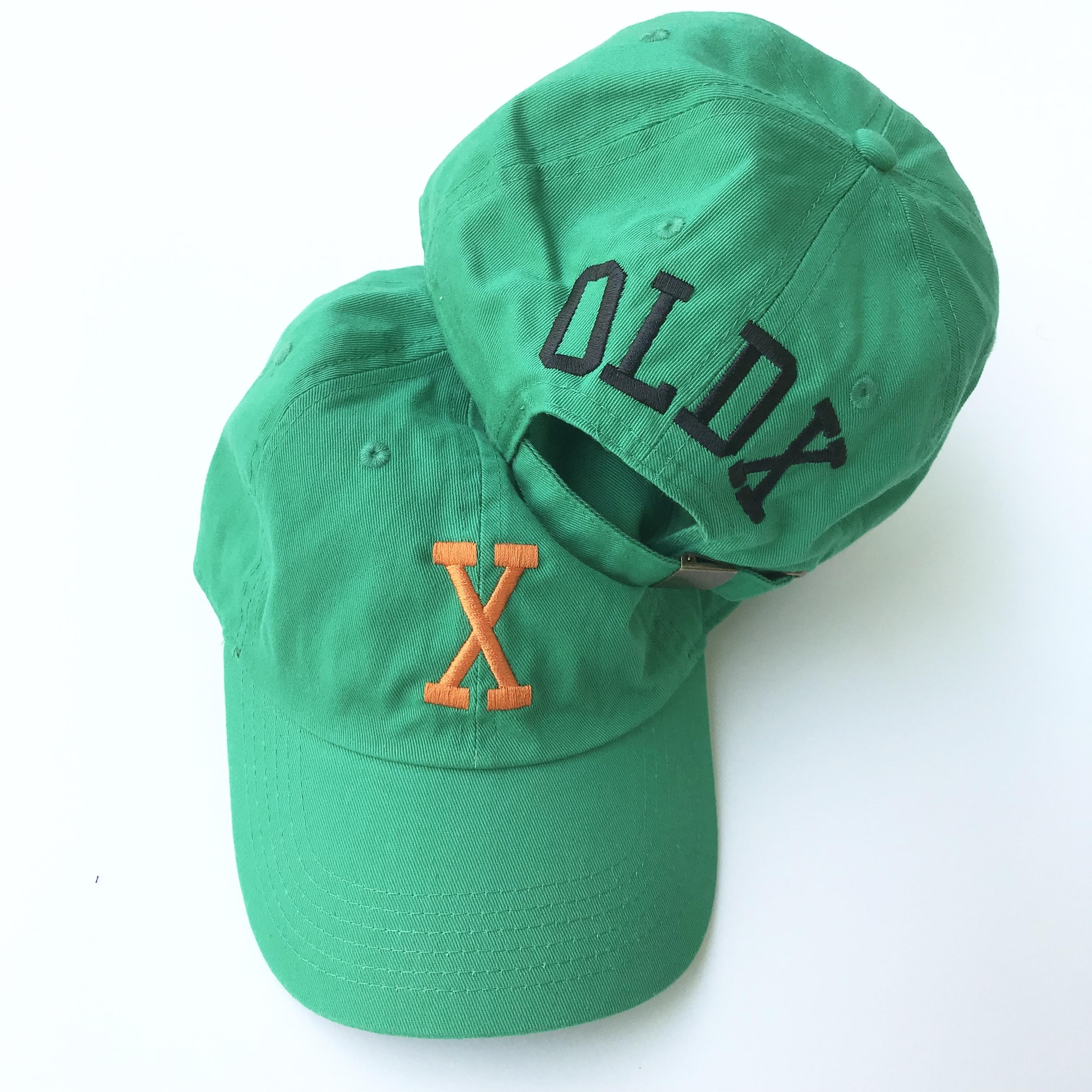 """College """"X"""" cap GREEN"""