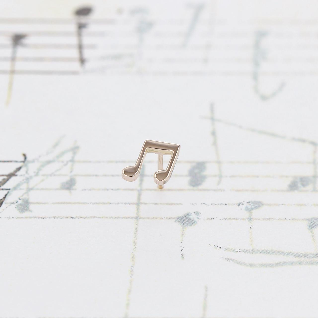 K10 / ピアス (片耳) / 連桁付き8分音符スタッドピアス