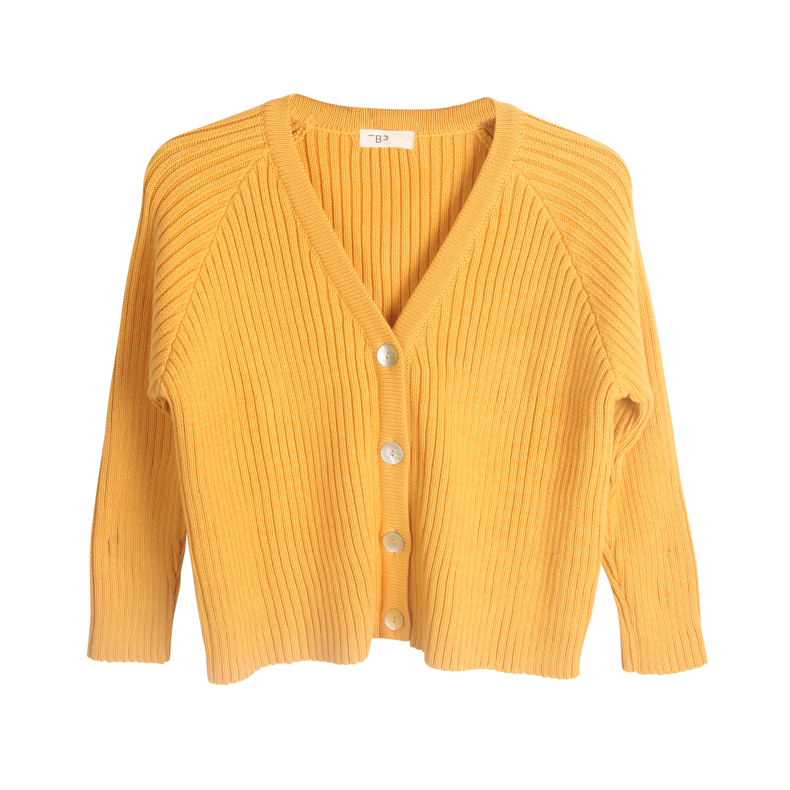 THE BIBIO PROJECT RIBBED CARDIGAN(BEESWAX)