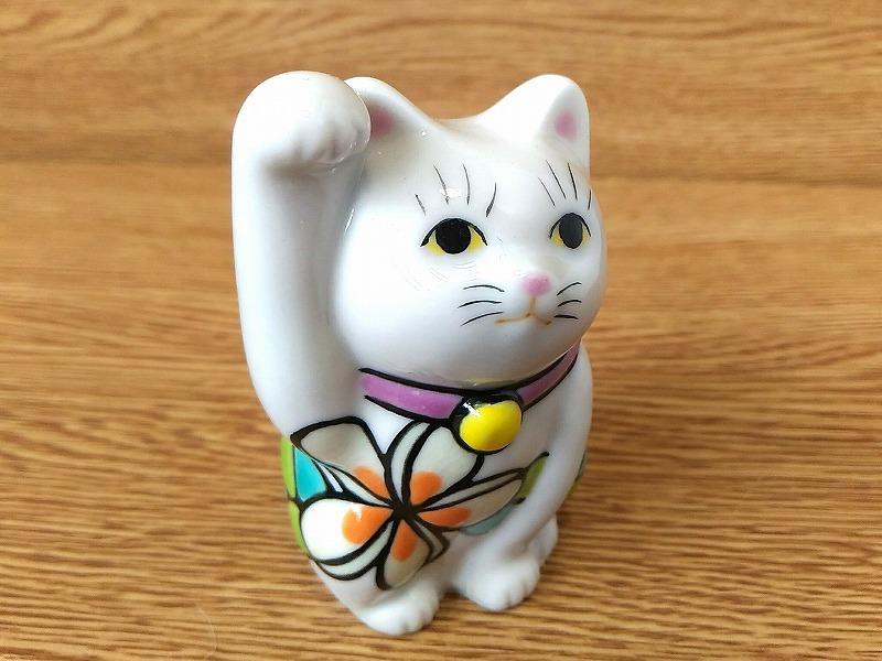 招き猫2.8寸 プルメリア