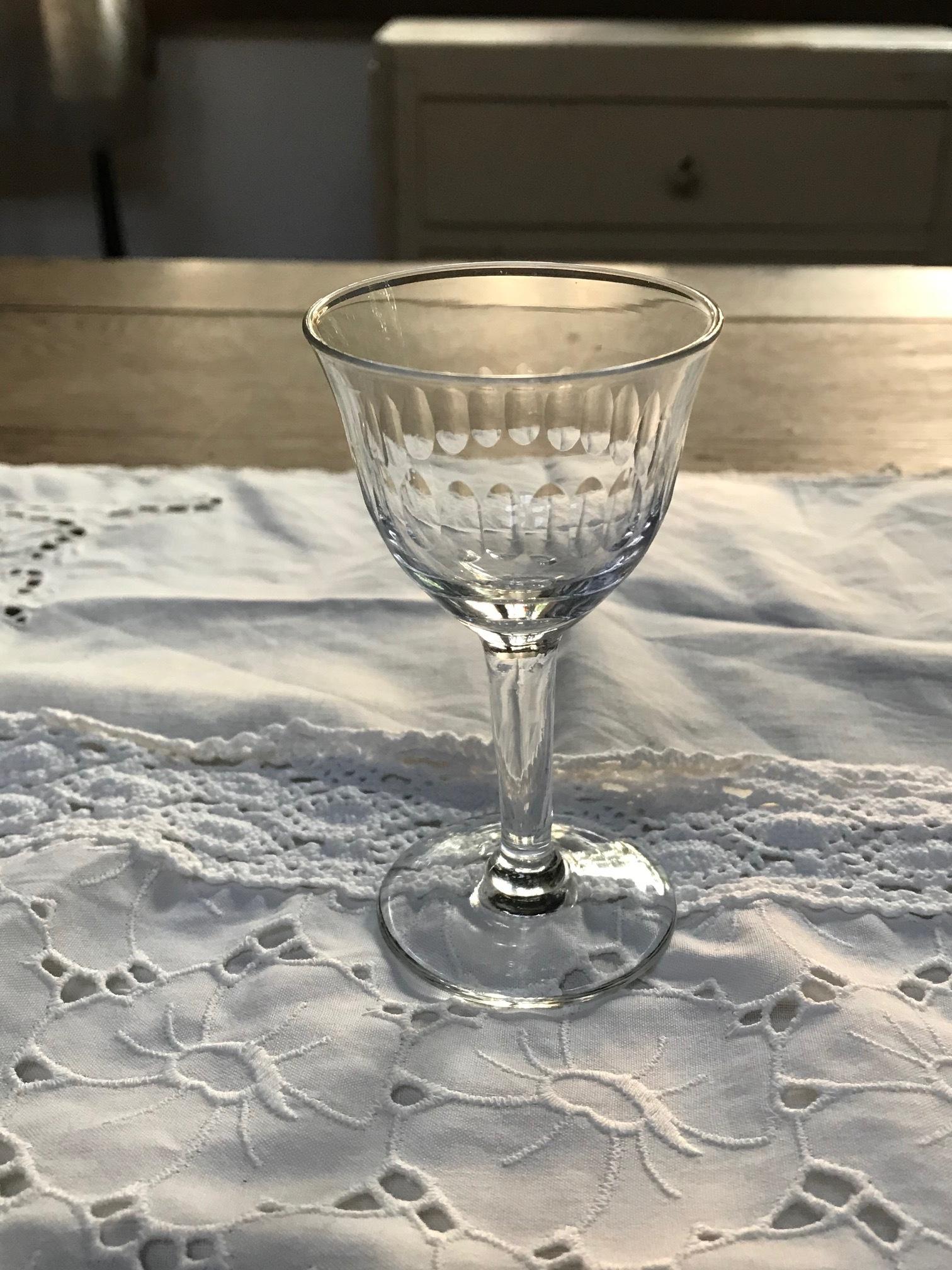 1940年代 フランスアンティーク 切子グラス D