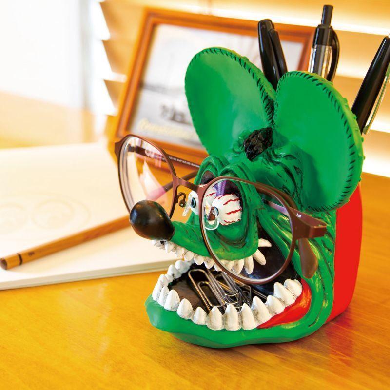 RAT FINK/ラットフィンク「デスクキーパー」フィギュア 人形 小物入れ