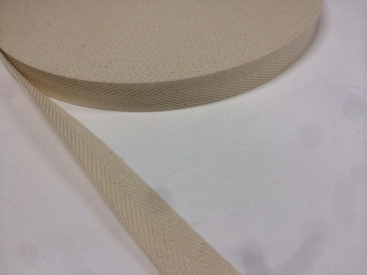 綿 コットン 杉綾 (綾テープ) 1㎜厚 25㎜幅 50m巻