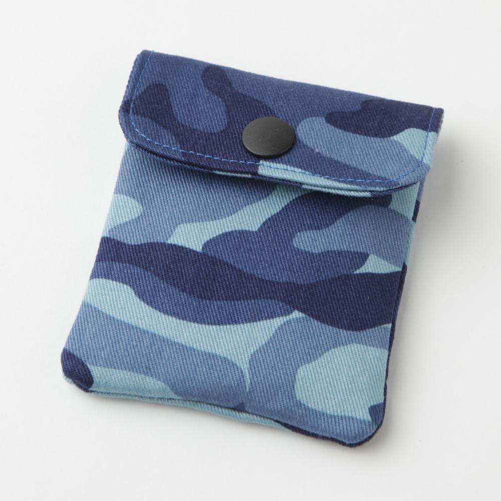 携帯灰皿 おしゃれ かわいい ミリタリー 迷彩 ブルー カモフラージュ 48046 アシュトレイ 職人技のハンドメイド インナーリフィル合計2個付属 日本製