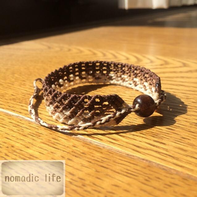 No.14//gradation bracelet_brown/グラデーションマクラメブレスレット