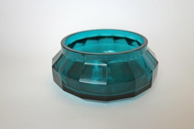 ヨーゼフ・ホフマン Josef Hoffmann ウィーン工房 アンティークガラス花瓶【コバルトブルー】