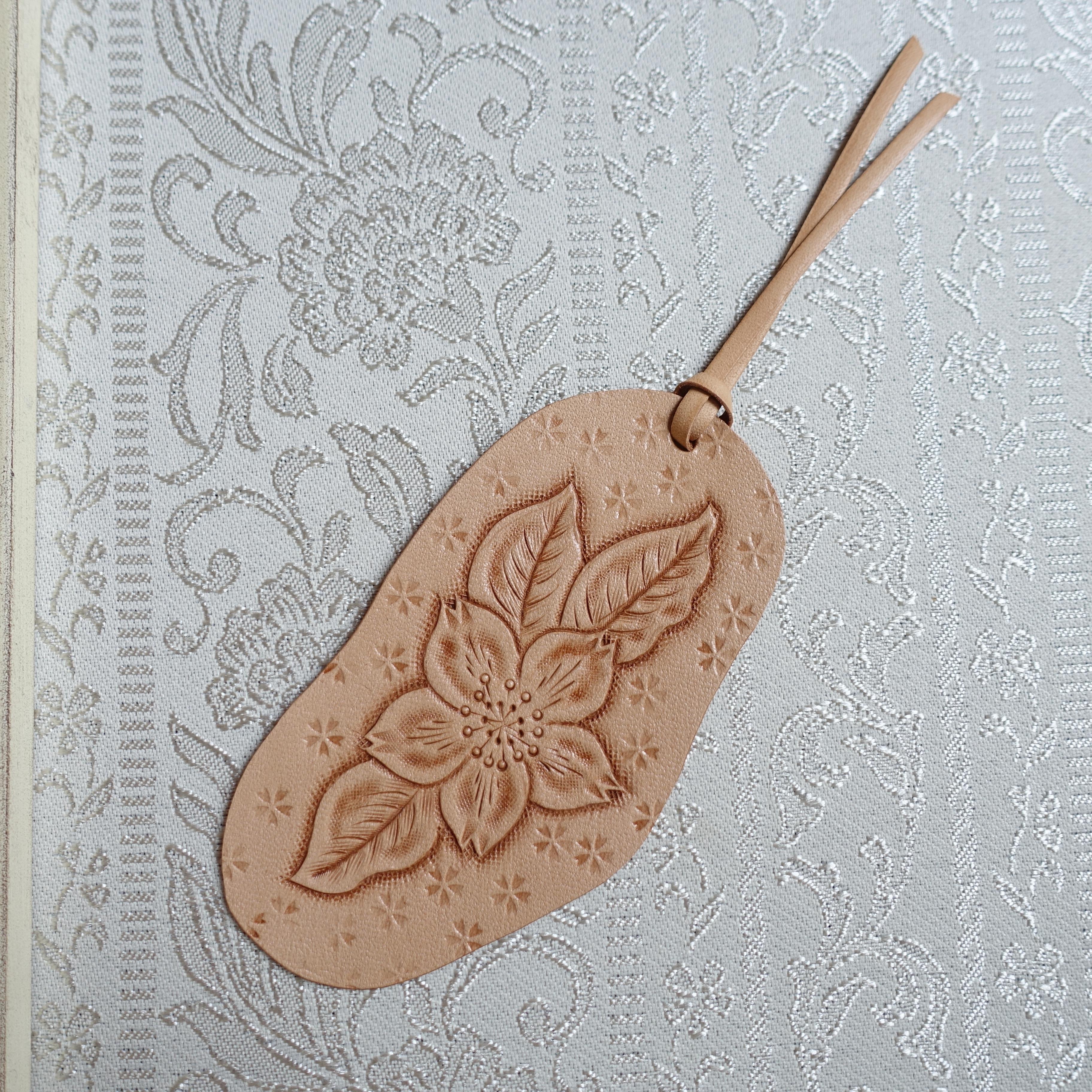 革好きさんのためのカービングの桜のしおり(送料無料)