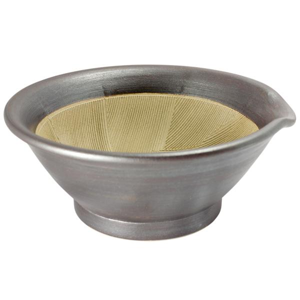 石州宮内窯 すり鉢6寸 鉄