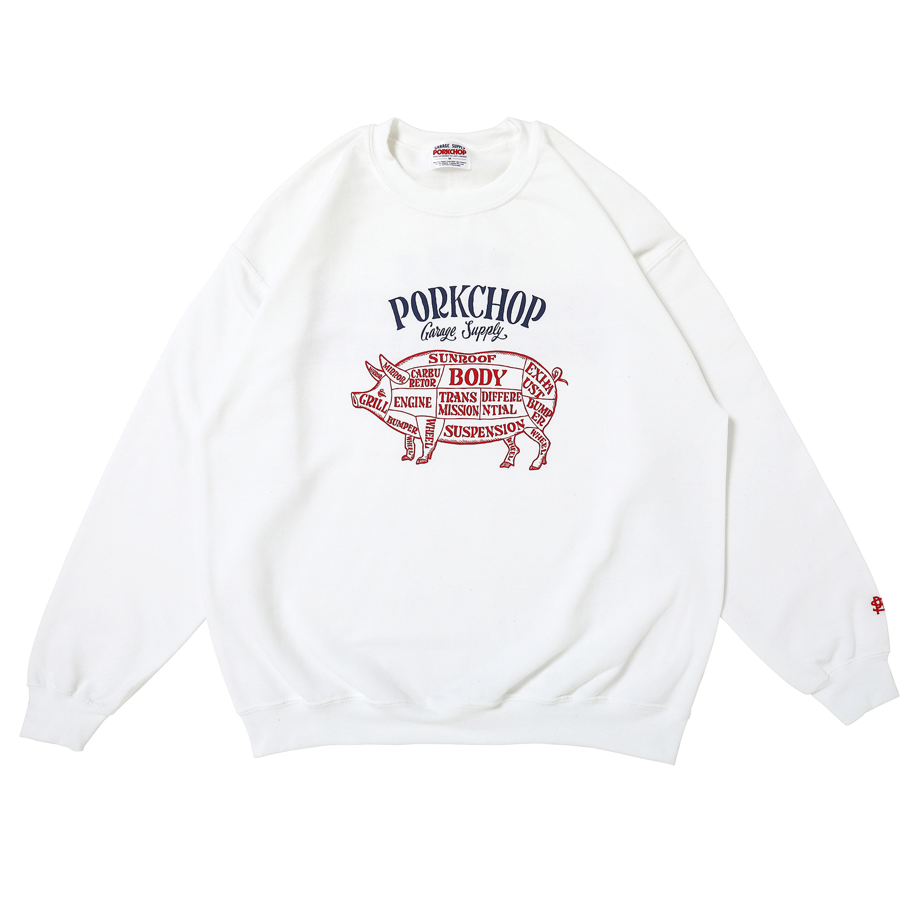 CHOPPERS WELCOME SWEAT/WHITE