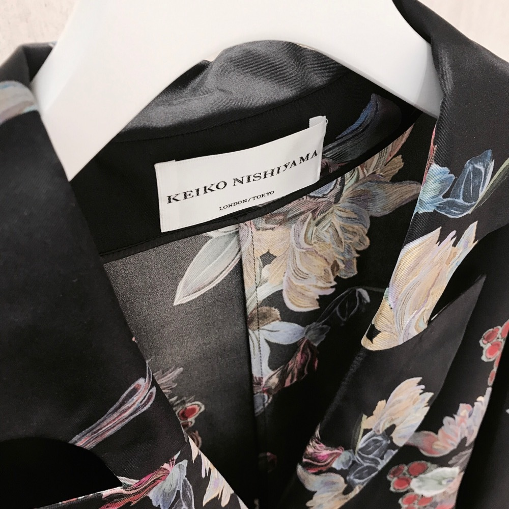 KEIKO NISHIYAMA SILK PRINTED BLACK