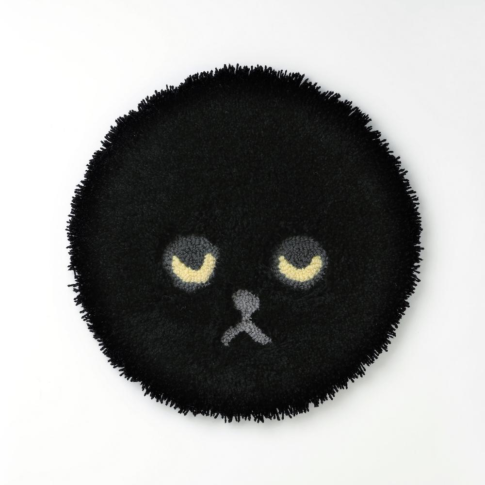 【再入荷】ネコチェアマット ブラック