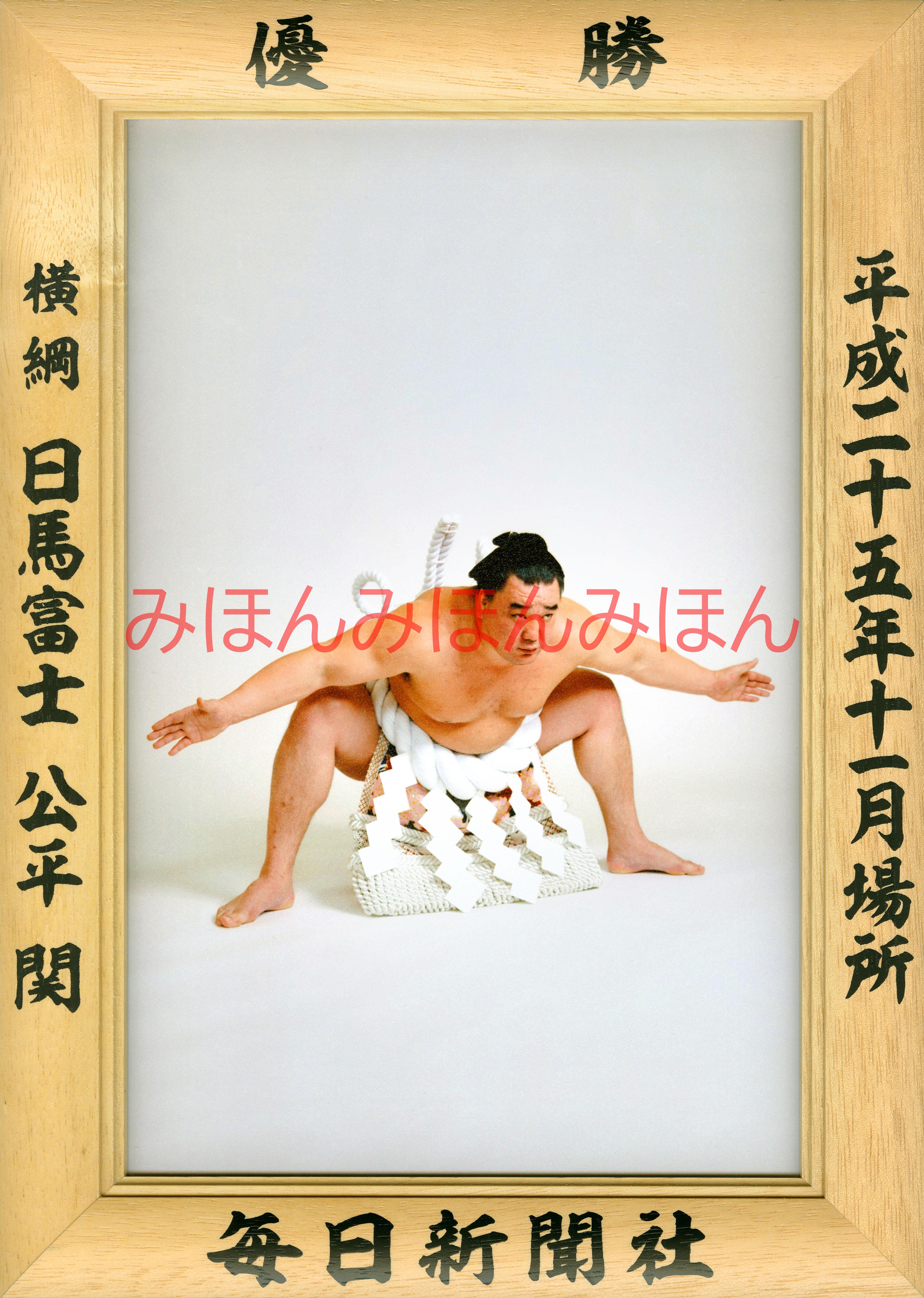平成25年11月場所優勝 横綱 日馬富士公平関(6回目の優勝)
