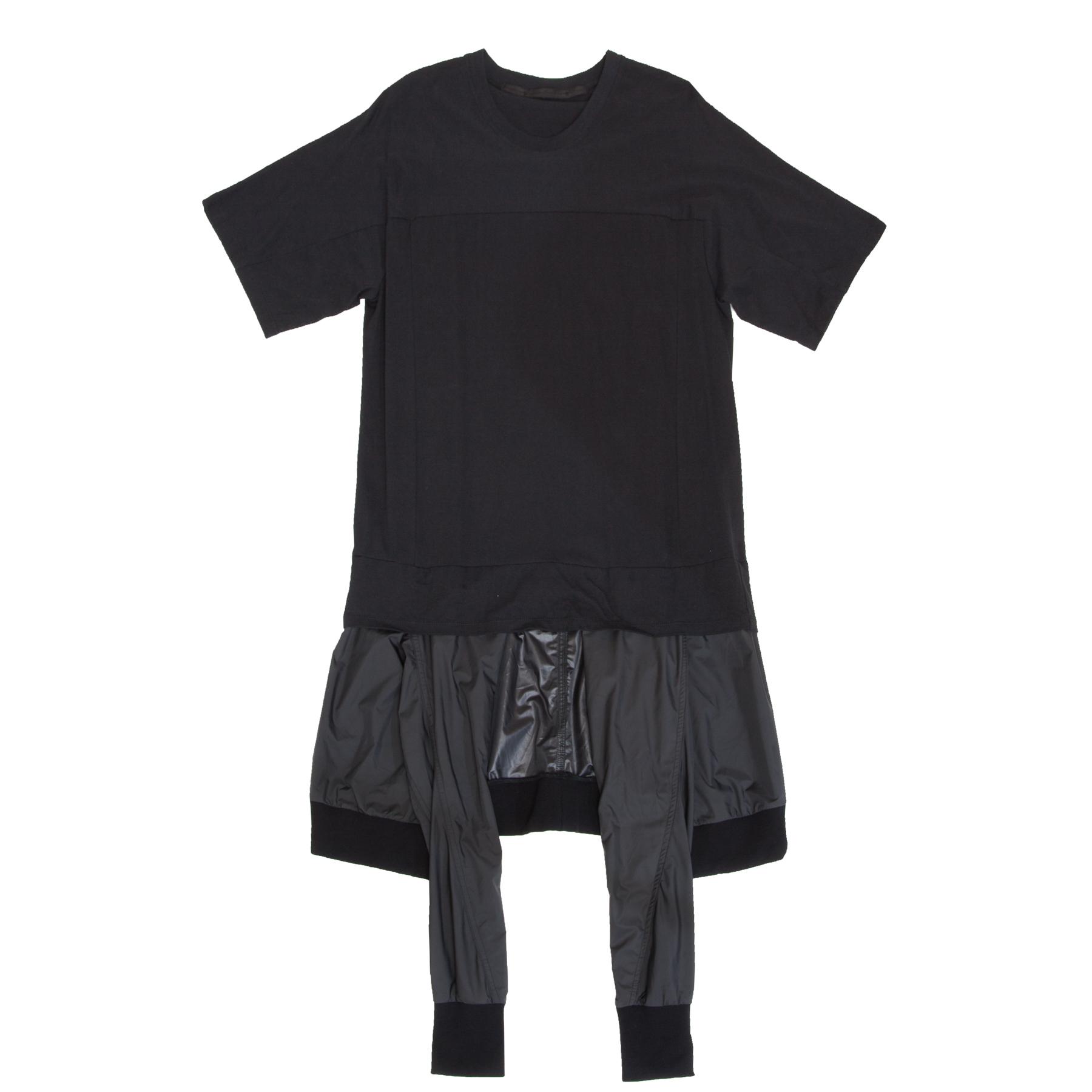 617CUM34-BLACK / レイヤードジャケットパーツT-シャツ
