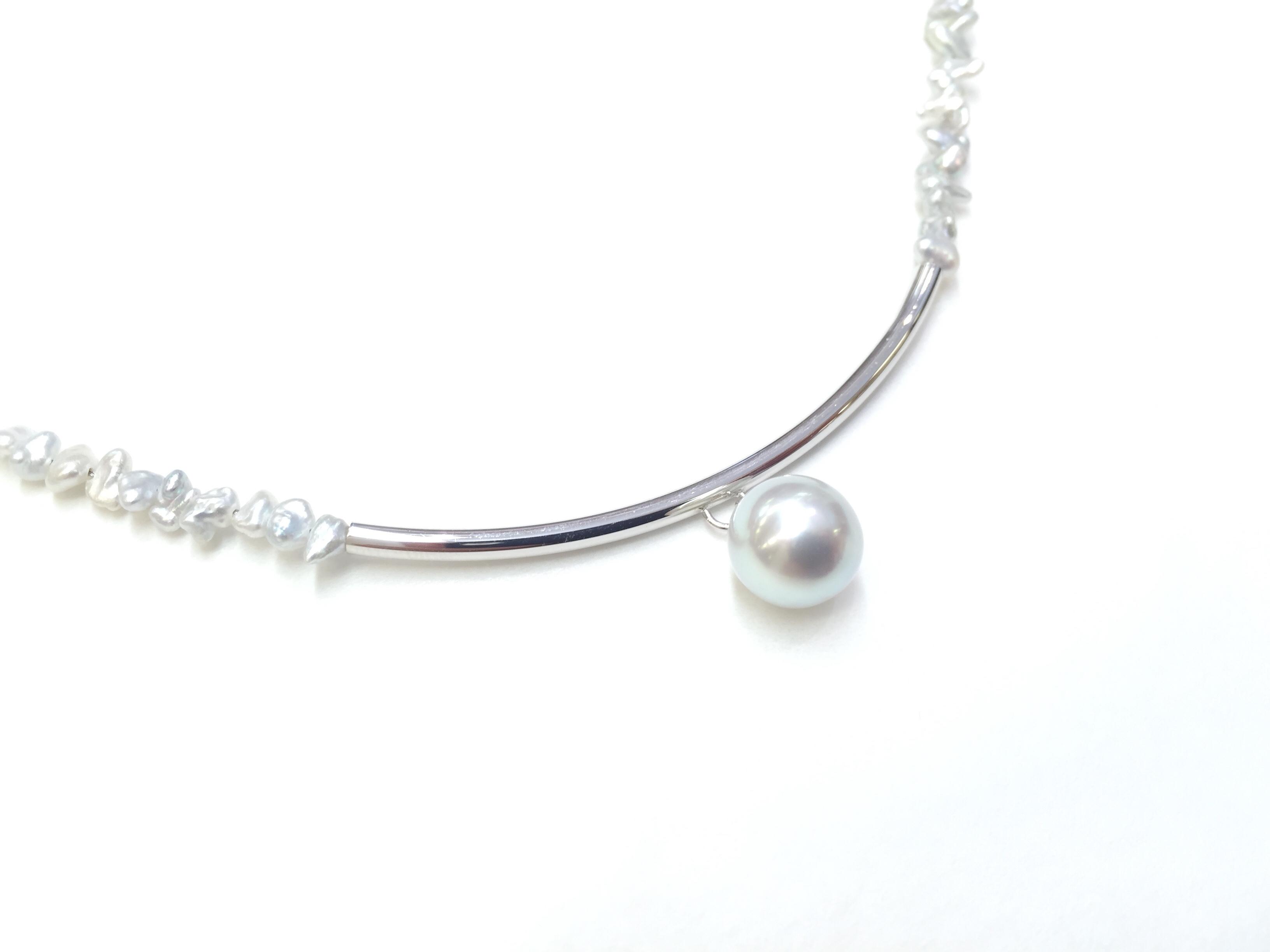 アコヤ真珠デザインネックレス