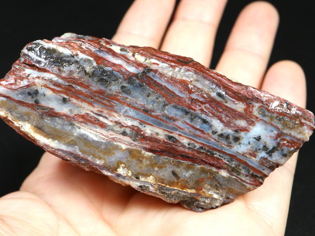 ※SALE※Cady Mountains アゲート  原石 113,2g AG095 瑪瑙 鉱物 天然石 パワーストーン 原石