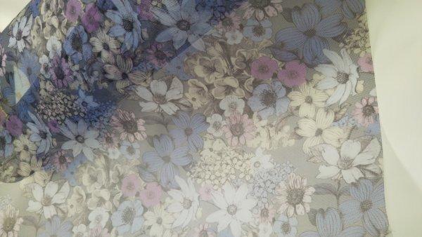 素敵なポーチを演出 チュール 花柄 70センチ幅 50センチ単位