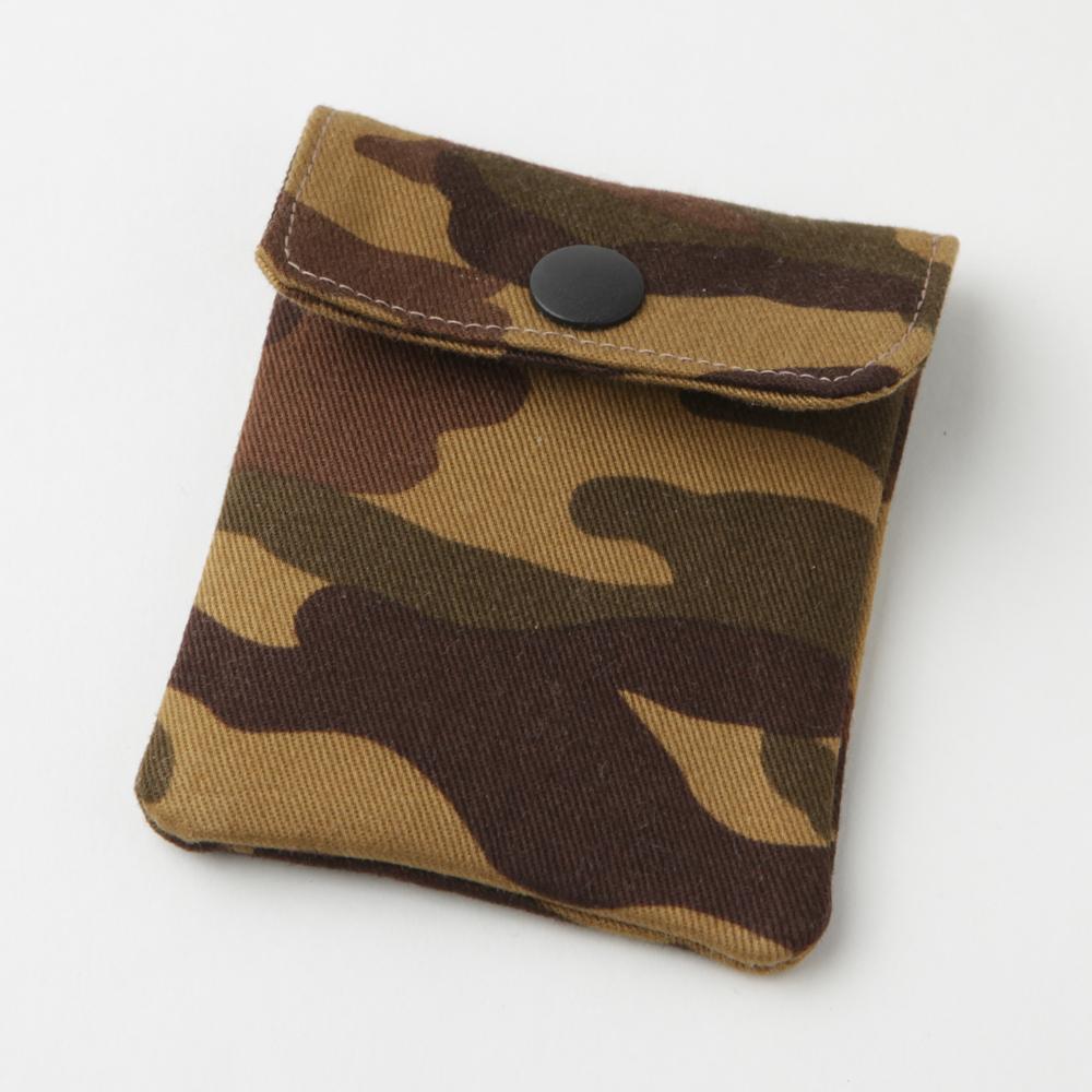 携帯灰皿 おしゃれ かわいい ミリタリー 迷彩 ブラウン カモフラージュ 48039 アシュトレイ 職人技のハンドメイド インナーリフィル合計2個付属 日本製