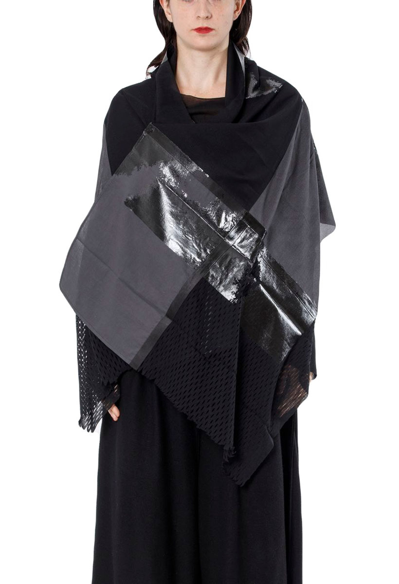 [着るストール]ANGEL エンジェル【COTTON-SILKコットン-シルク】 KABUKU[有吉くんの正直さんぽ]TVで紹介商品BLACK  2308 [送料/税込]